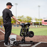 ATEC M3X Baseball Pitching Machine - On Caddypod