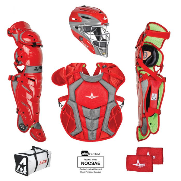 All-Star S7 AXIS Pro Catcher's Complete Set - NOCSAE Certified - Intermediate (Ages 12-16)