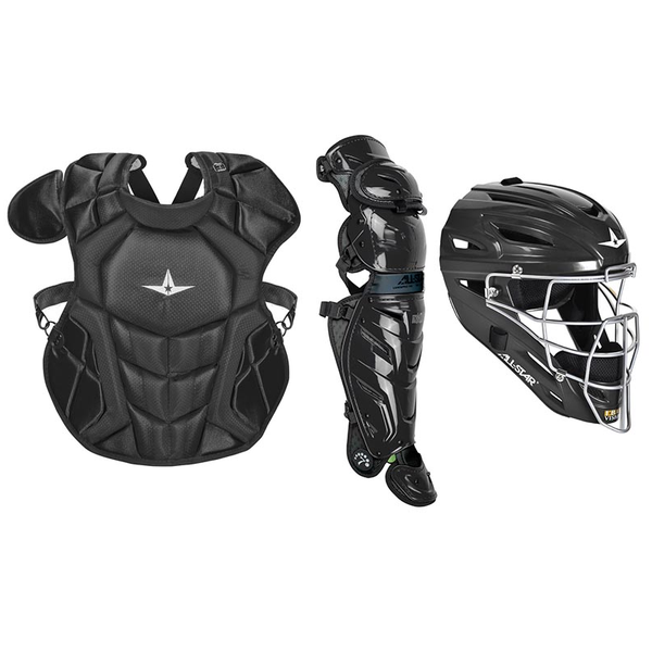 All-Star S7 Axis Pro Catcher's Complete Set - Solid Colors - NOCSAE Certified - Intermediate (Ages 12-16)