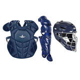All-Star Certified NOCSAE® System 7 Axis Catcher's Complete Set (Ages 9-12) - Solid Colors
