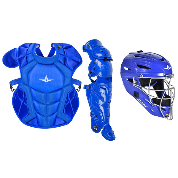 All-Star S7 Axis Pro Catcher's Complete Set - Solid Colors - NOCSAE Certified - Youth (Ages 9-12)