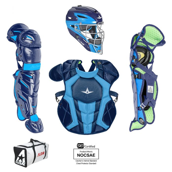 All-Star S7 AXIS Pro Catcher's Complete Set - Two-Tone - NOCSAE Certified - Youth (Ages 9-12)