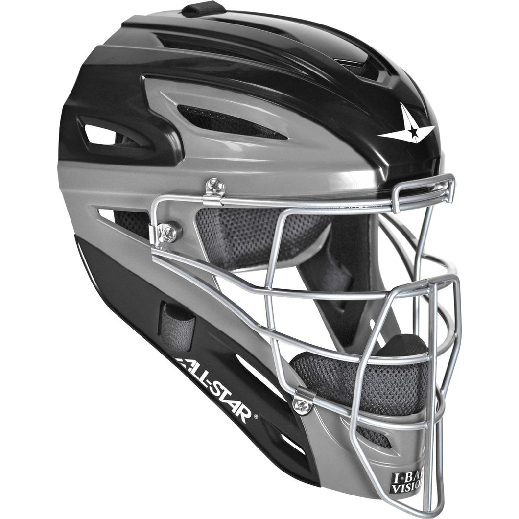 All-Star MVP2510 Graphite Two-Tone Catcher's Helmet - Youth