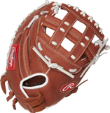 "Rawlings R9 Softball 33.00"" Catcher's Mitt R9SBCM33-24DB"