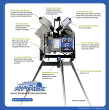 Junior Hack Attack Baseball Pitching Machine