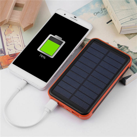 Solar Powered USB Phone Charger and Power Bank