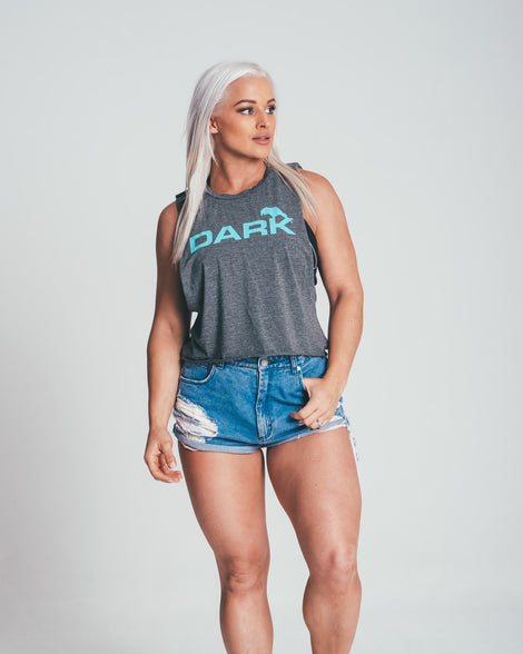 CROPPED DARK TANK - TEAL - Dark Apparel