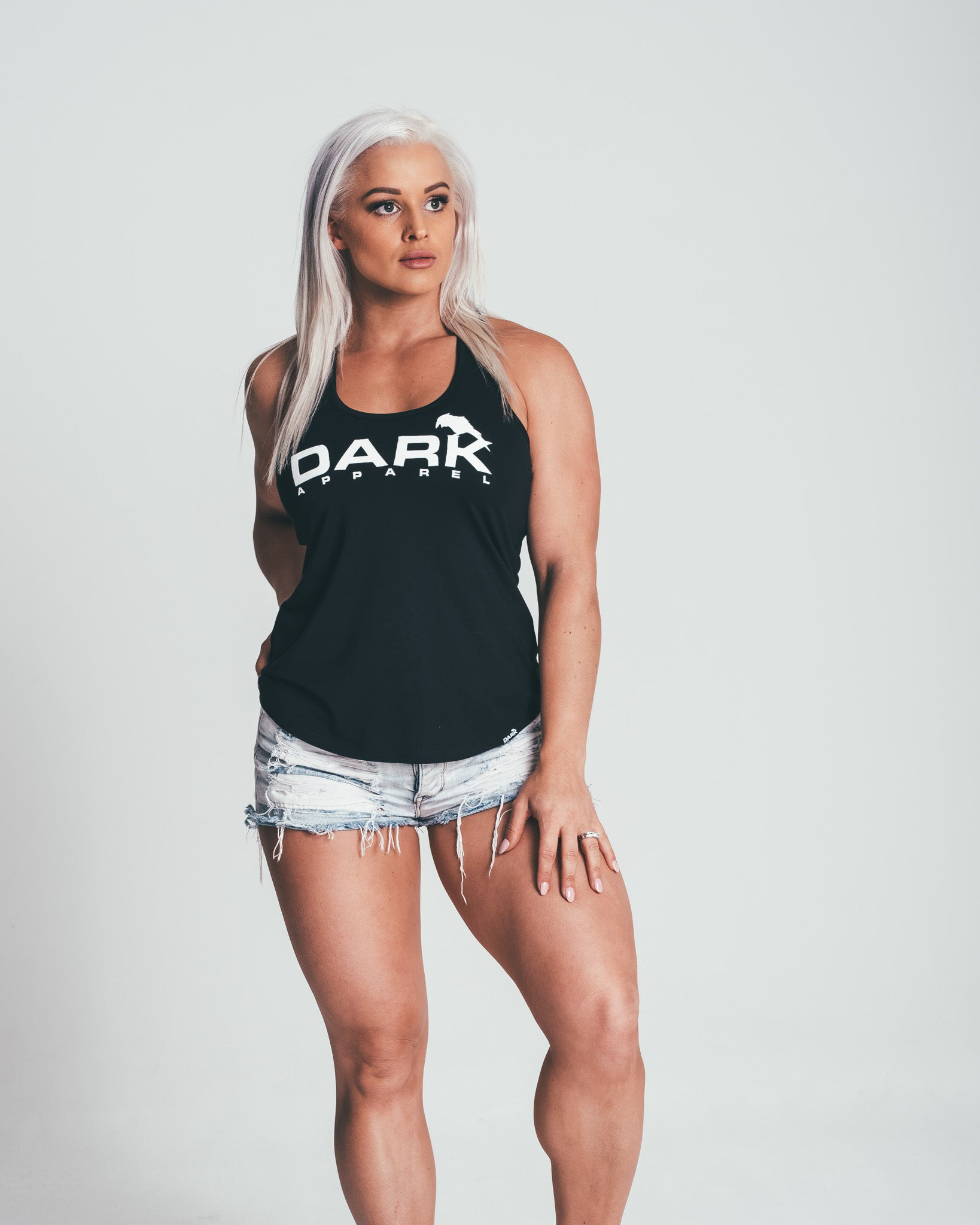DARK APPAREL FITTED TANK - BLACK - Dark Apparel