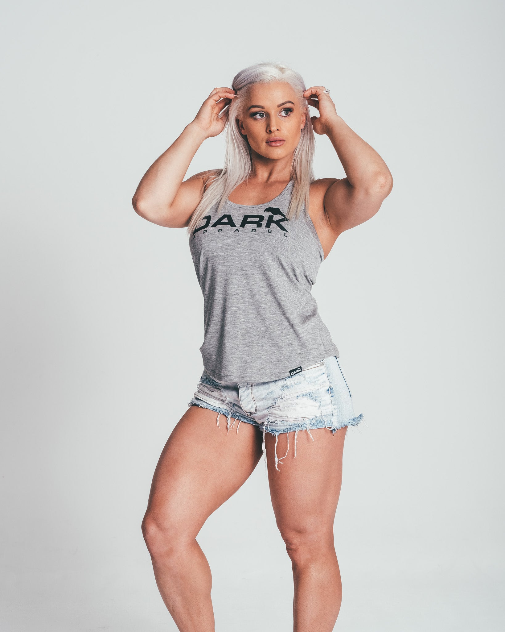 DARK APPAREL FITTED TANK - GREY - Dark Apparel