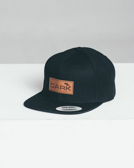 DARK x FLEXFIT EMBOSSED LEATHER - SNAPBACK - Dark Apparel