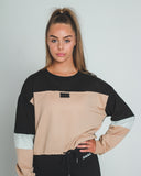 DAILY DRAWSTRING SWEATER | TAN - Dark Apparel