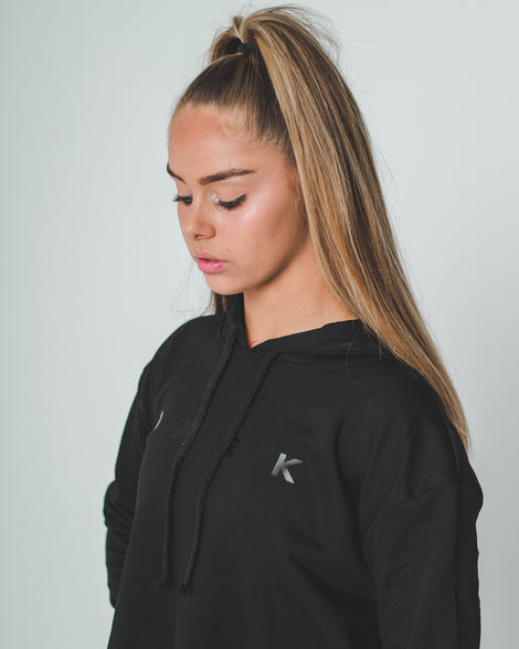 DARK CROPPED HOODIE | BLACK - Dark Apparel