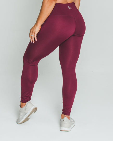 BALANCE LEGGINGS - BURGUNDY - Dark Apparel