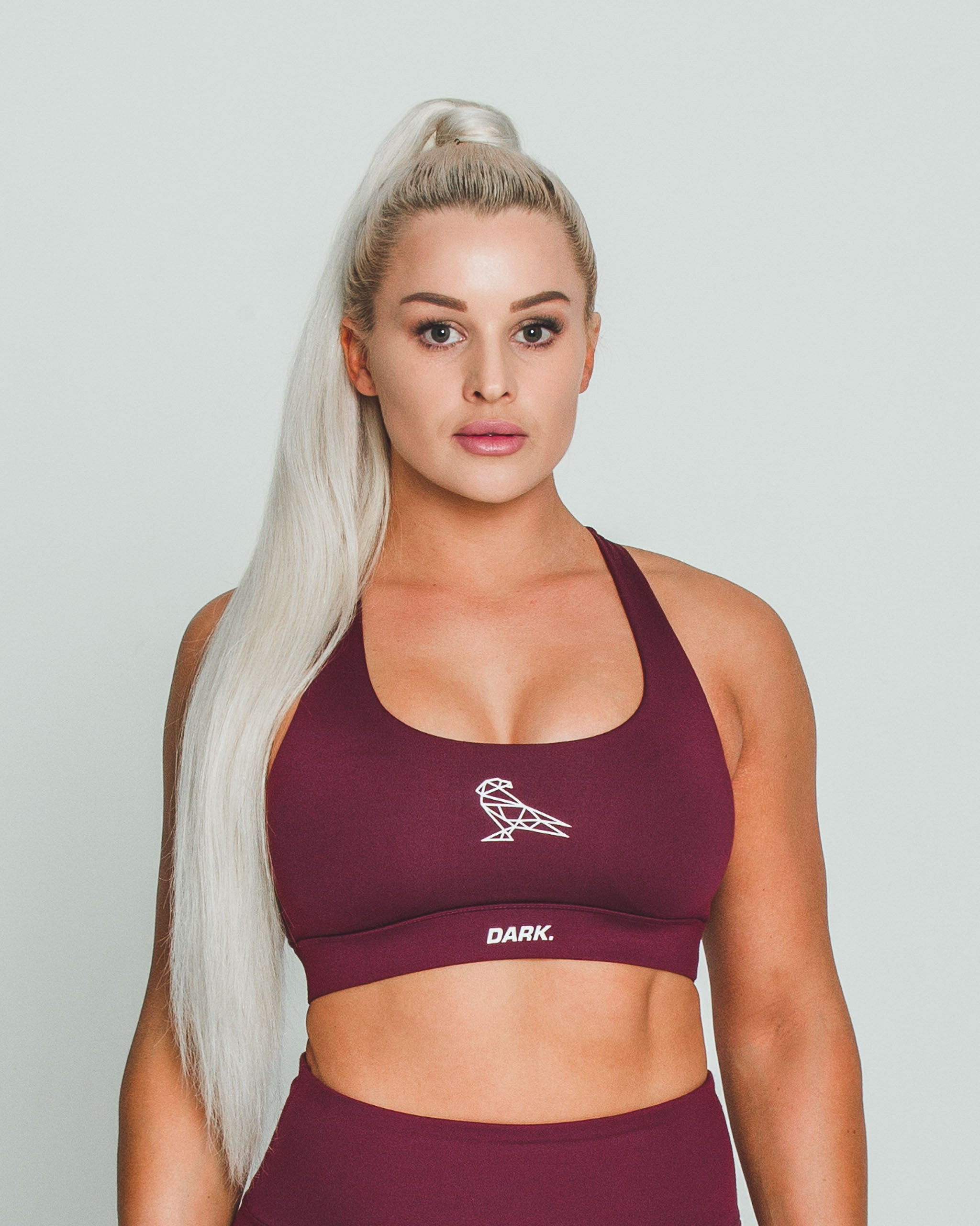 BALANCE SPORTS BRA - BURGUNDY - Dark Apparel
