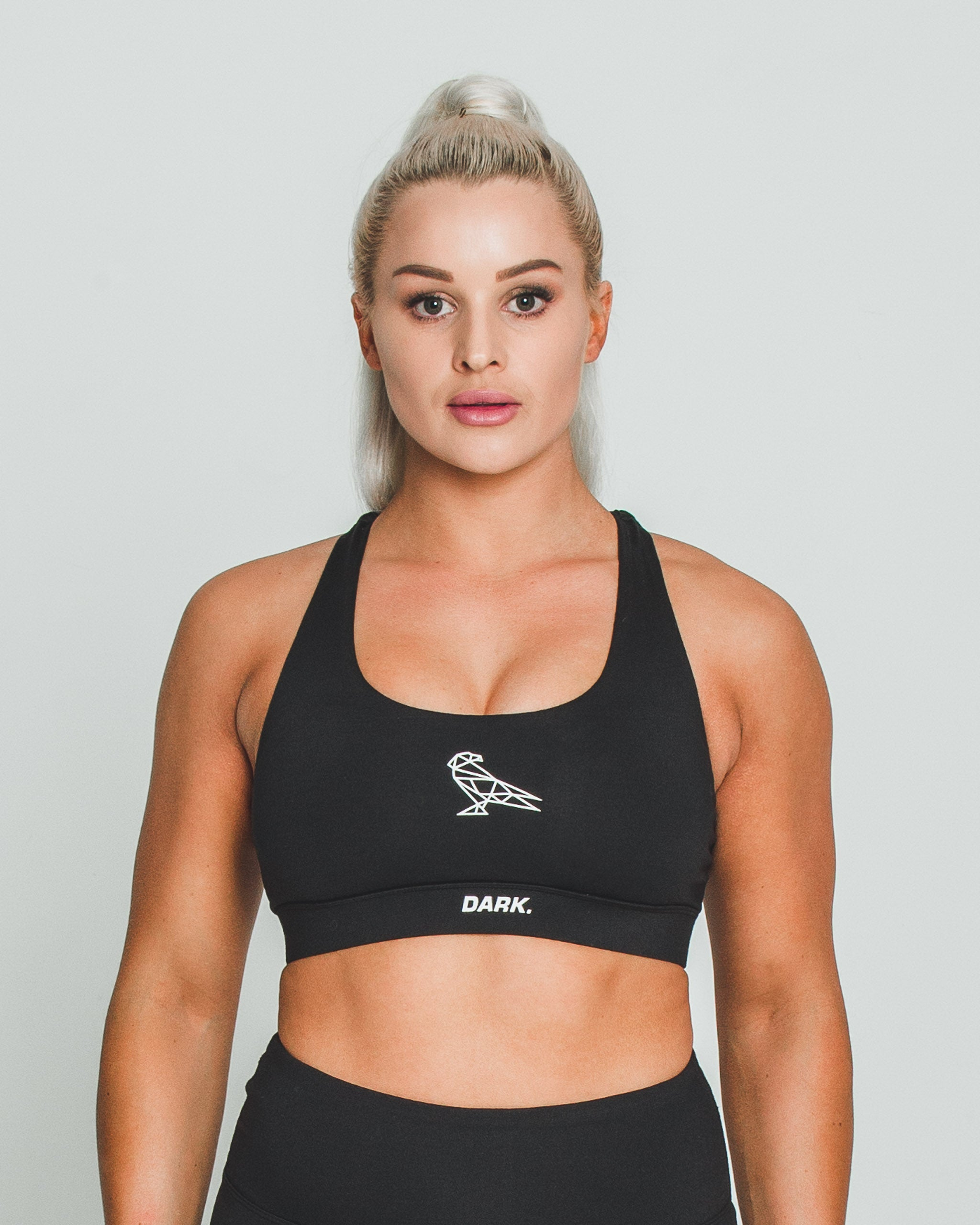 BALANCE SPORTS BRA - BLACK - Dark Apparel