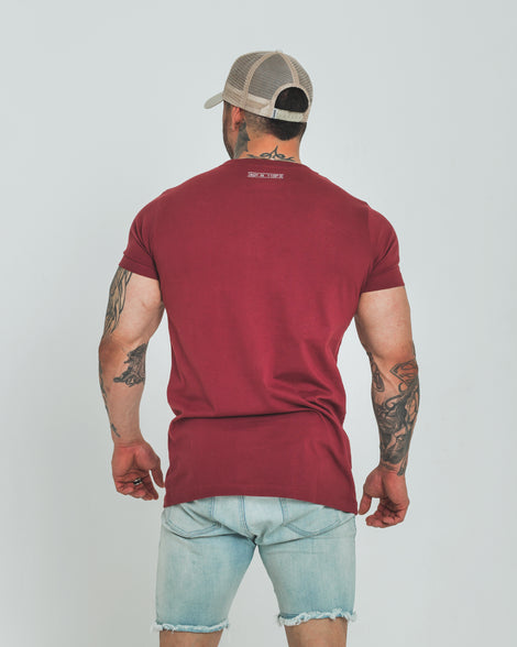 DARK LOCALE TEE - BURGUNDY - Dark Apparel
