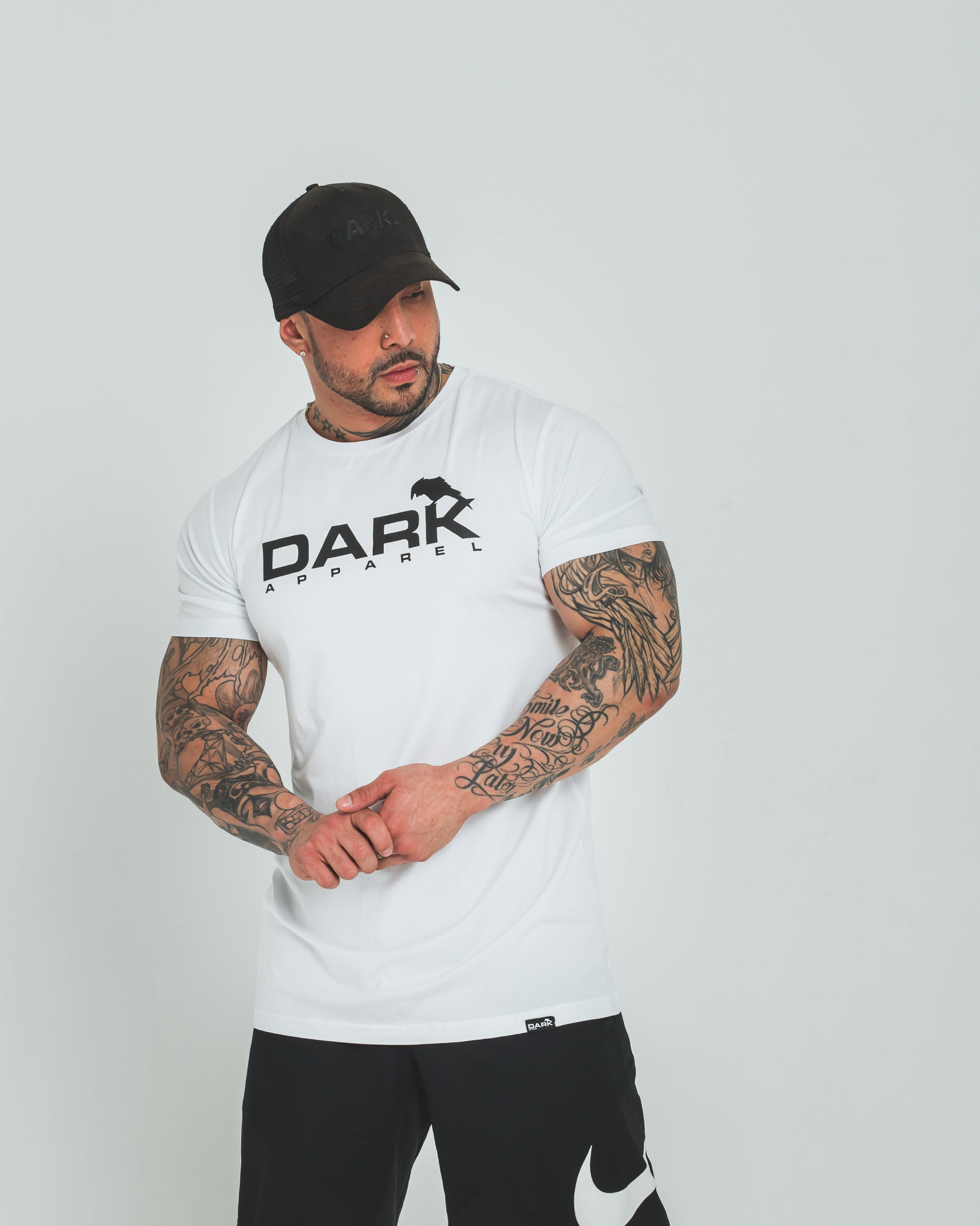 DARK APPAREL TEE - BLACK PRINT - Dark Apparel