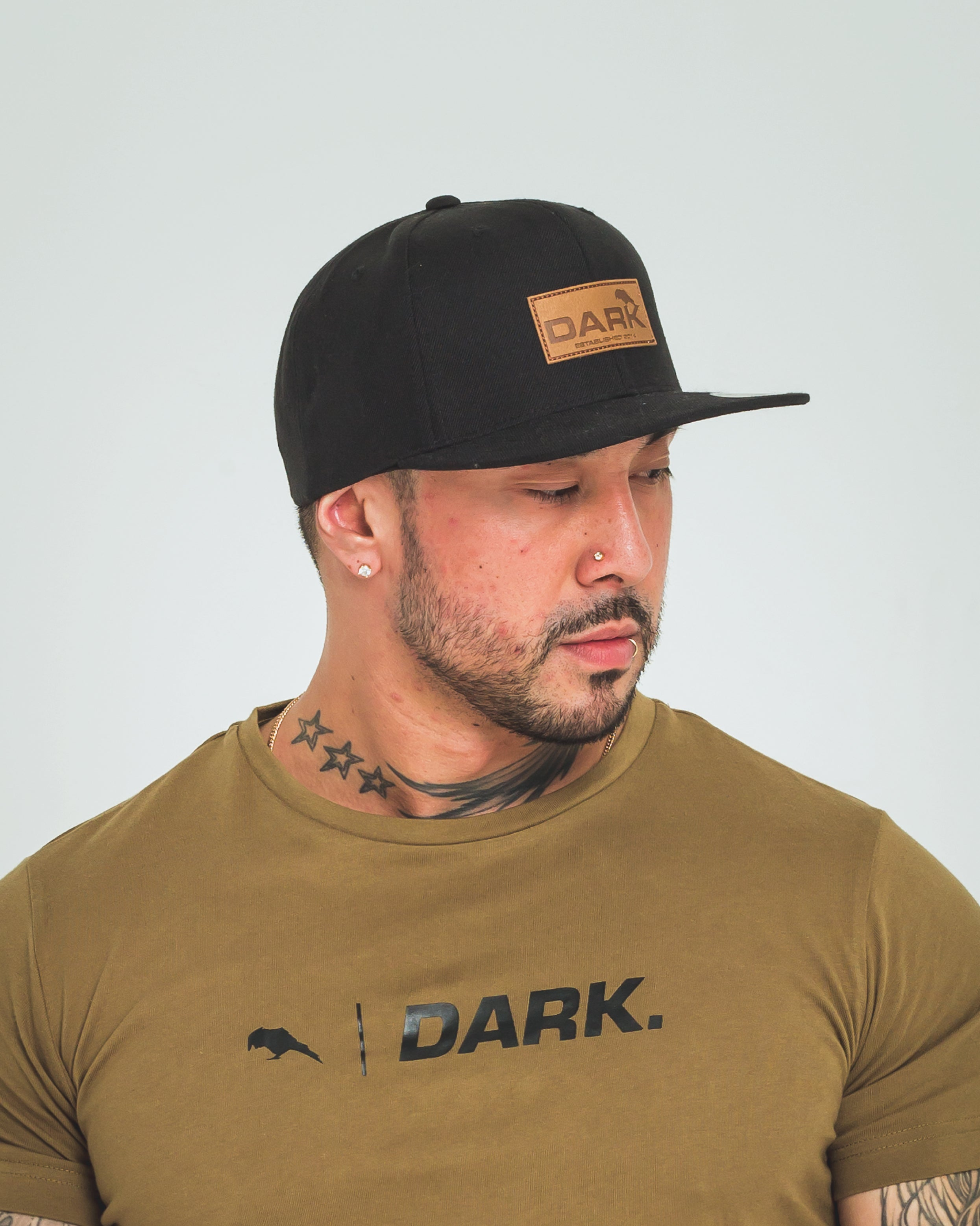 dark apparel black snapback