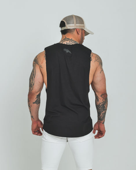 Mens Dark Apparel tank black