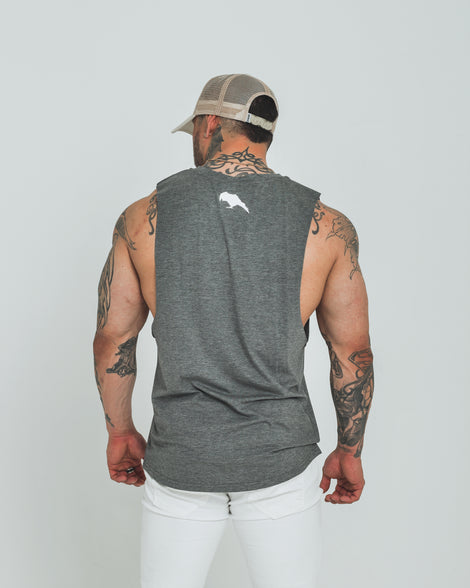 Mens Dark Apparel tank white