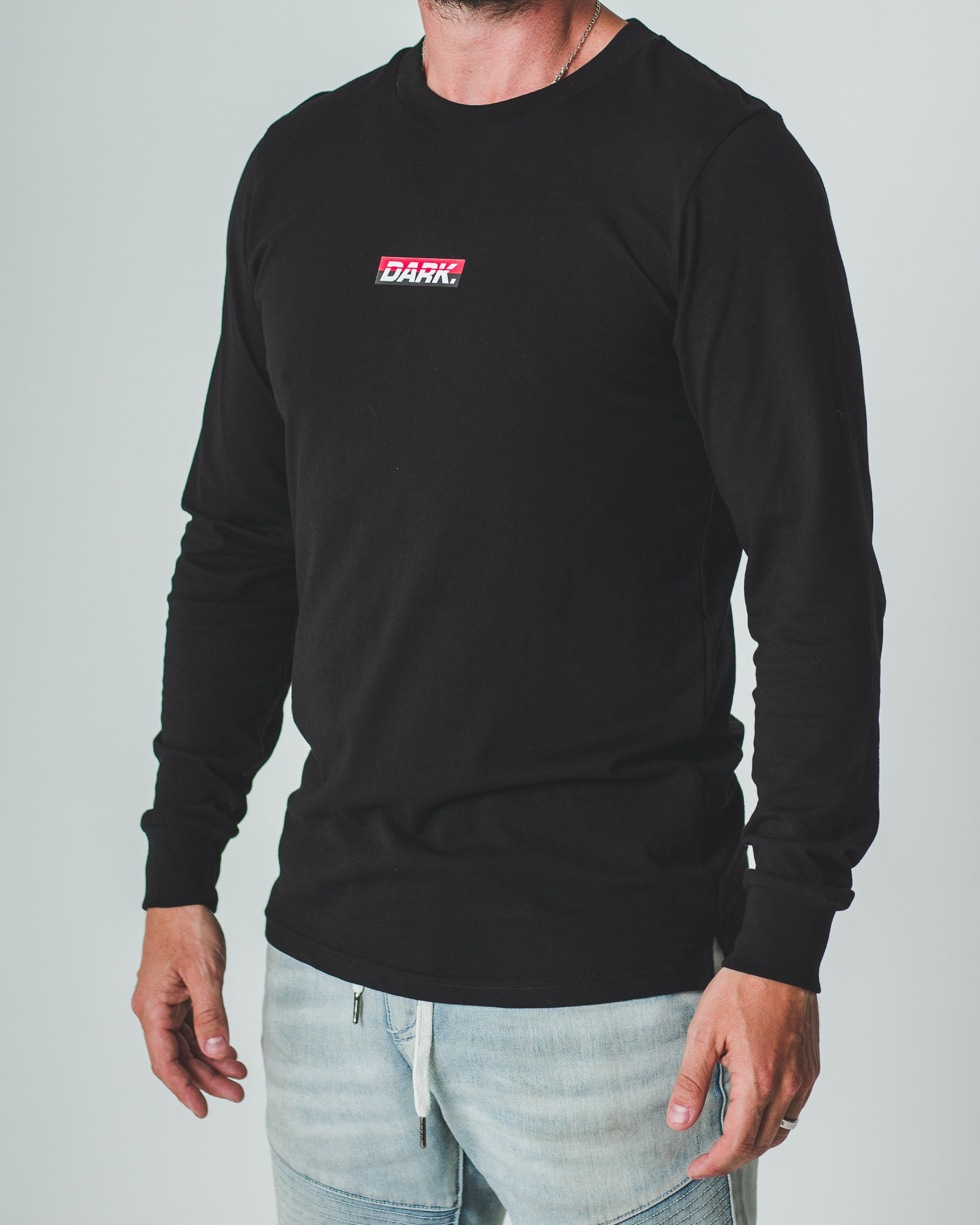 DARK SPLIT LONG SLEEVE TEE - Dark Apparel