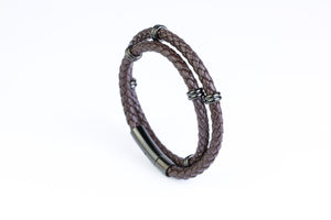 Brown Double Leather Bracelet