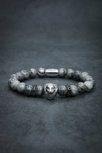 Load image into Gallery viewer, Silver Leaf Jasper Lion Bracelet