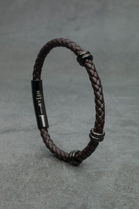 Classic Single Leather Bracelet - Brown Edition
