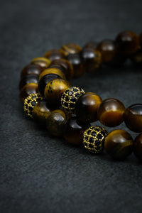 Tiger Eye Double Bracelet