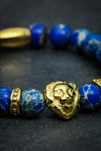 Load image into Gallery viewer, Lapis Lazuli Lion Bracelet