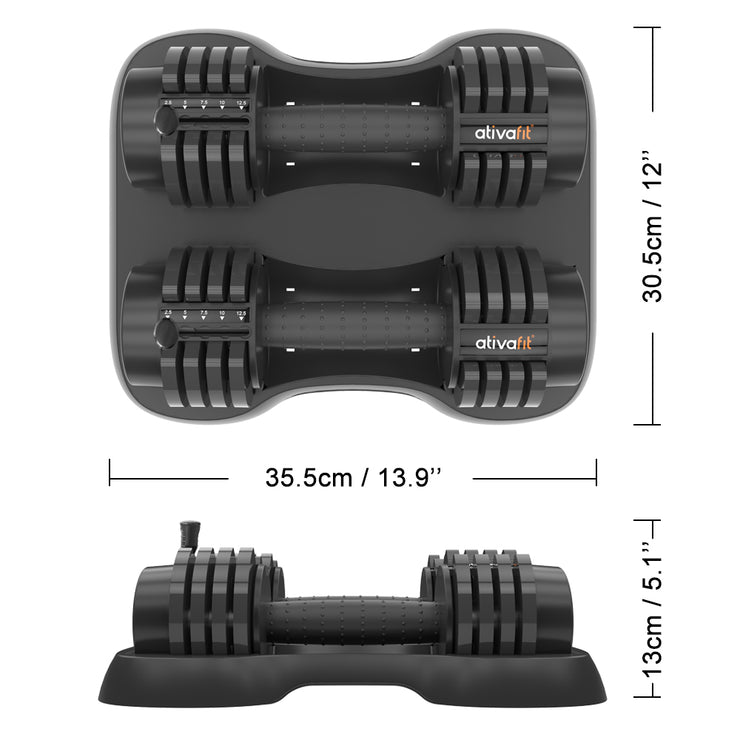 12.5 lbs Adjustable Dumbbell Set