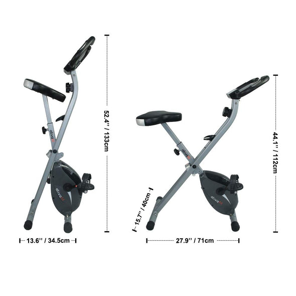 Foldable stationary bike side