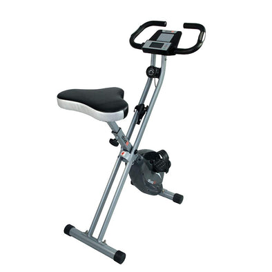 ATIVAFIT Folding Magnetic Upright Exercise Bike with Pulse Indoor Cycling Bike Large Seat with Water Holder