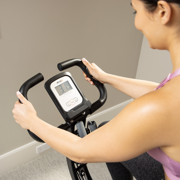 R8 Foldable Exercise Bike w. Upper Body Resistance