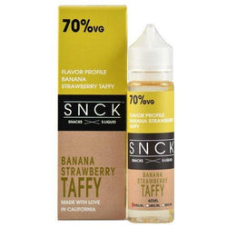 SNCK Snacks E-Liquid - Strawberry Banana Taffy