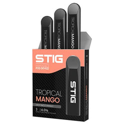STIG - Ultra Portable and Disposable Vape Device - Tropical Mango (3 Pack)