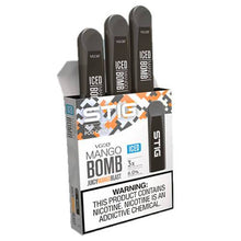 STIG - Ultra Portable and Disposable Vape Device - Mango Bomb ICED (3 Pack)