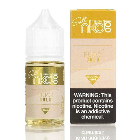 Nkd 100 Salt E-Liquid - Euro Gold