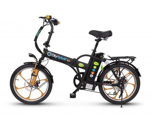 City Hybrid HD Electric Folding Bike by Green Bike Electric Motion