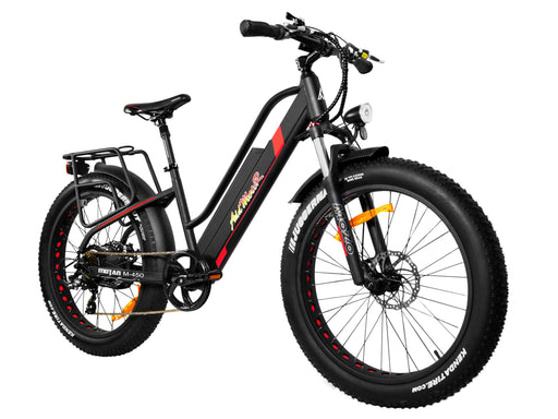 Addmotor Fat Bike Black Addmotor MOTAN M450 Women's Electric Fat Bike Electric Bicycle USA