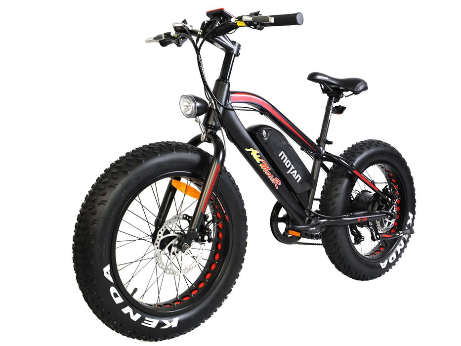 Addmotor Fat Bike Black Addmotor MOTAN M50 Youth Electric Fat Bike Electric Bicycle USA