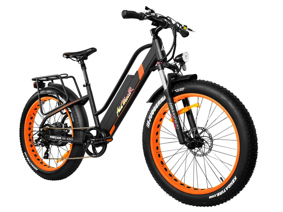 Addmotor Fat Bike Orange Addmotor MOTAN M450 Women's Electric Fat Bike Electric Bicycle USA