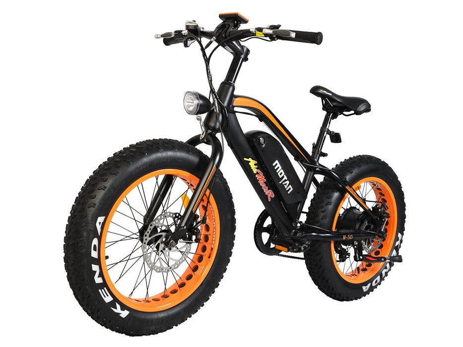 Addmotor Fat Bike Orange Addmotor MOTAN M50 Youth Electric Fat Bike Electric Bicycle USA