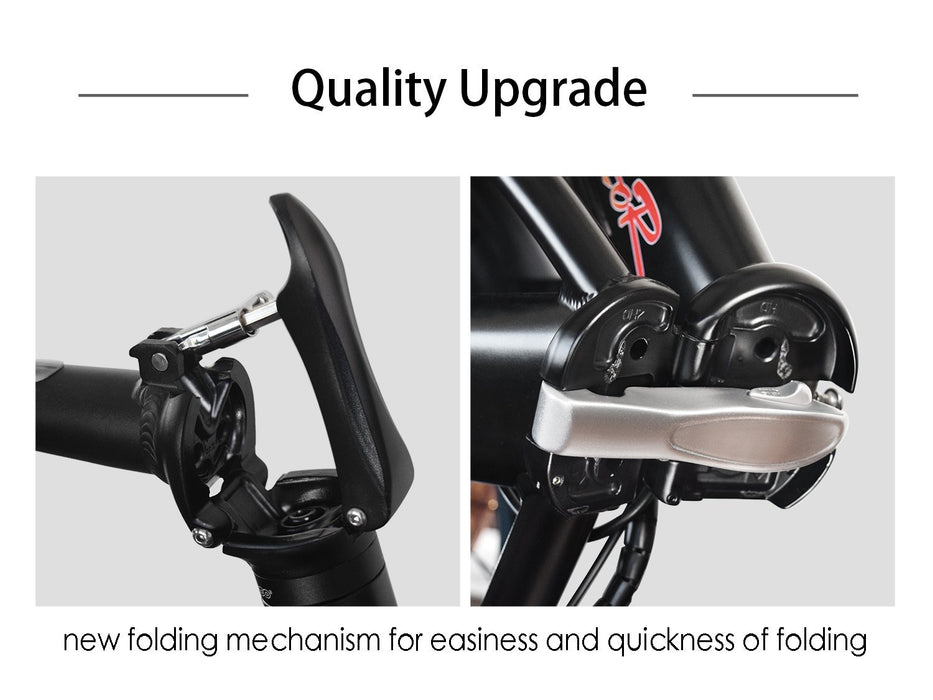 Addmotor Folding Ebike Addmotor MOTAN M150 Platinum Folding Fat Ebike Electric Bicycle USA