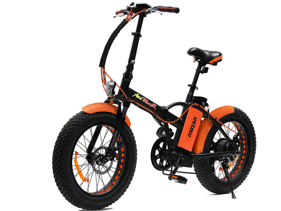 Addmotor Folding Ebike Orange Addmotor MOTAN M150 Folding Fat Ebike Electric Bicycle USA
