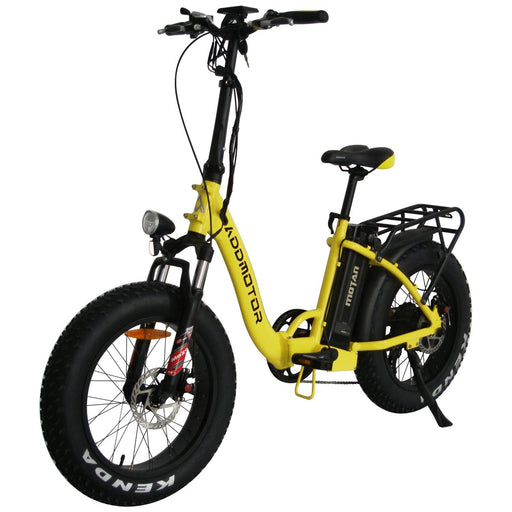 Addmotor Folding Ebike Yellow Addmotor MOTAN M140 Stepthrough Folding Fat Electric Bike Electric Bicycle USA