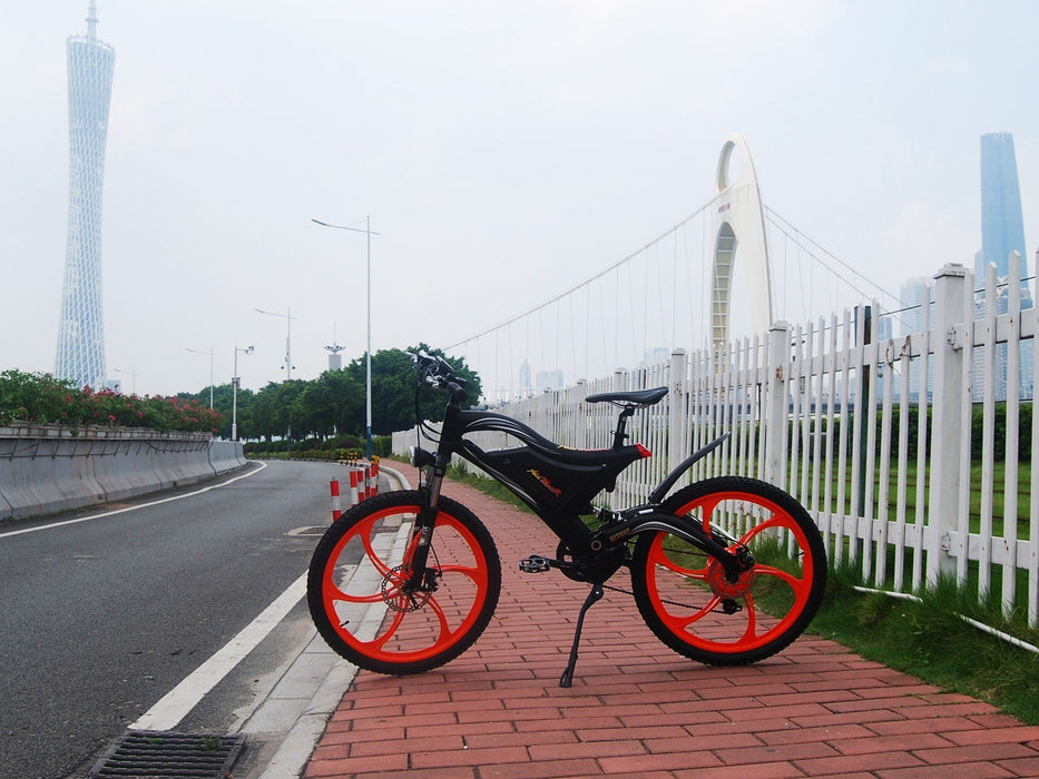 Addmotor Mountain Bike Addmotor HITHOT H2 Sport Mag Wheel Mountain E-bike Electric Bicycle USA