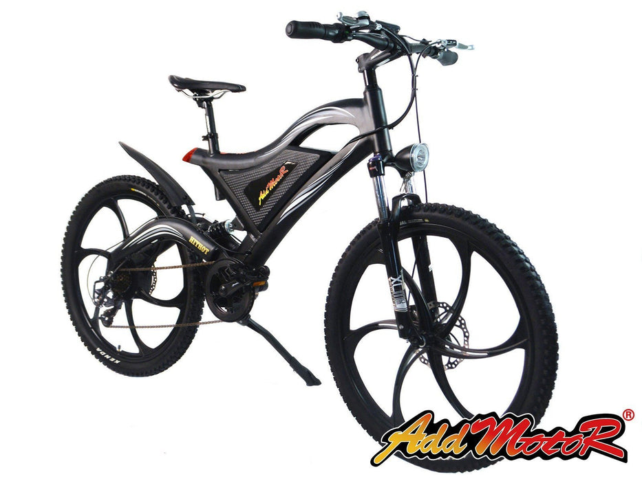 Addmotor Mountain Bike Black Addmotor HITHOT H2 Sport Mag Wheel Mountain E-bike Electric Bicycle USA
