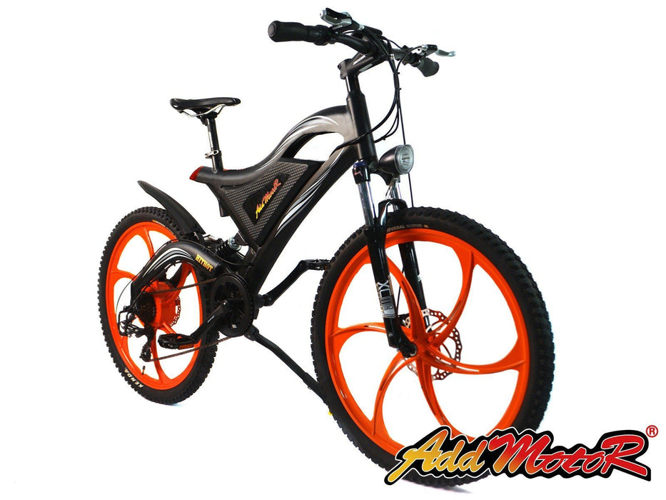 Addmotor Mountain Bike Orange Addmotor HITHOT H2 Sport Mag Wheel Mountain E-bike Electric Bicycle USA