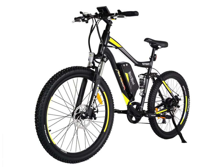 Addmotor Mountain Bike Yellow Addmotor Hithot H1 Sport Mountain E-bike Electric Bicycle USA